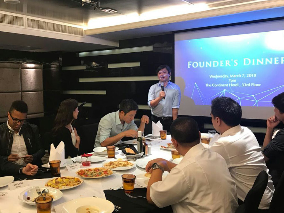 Founders' Dinner in Bangkok, Thailand  on March 2018 with Managing Partner Kuo-Yi Lim and Principal, Michele Daoud