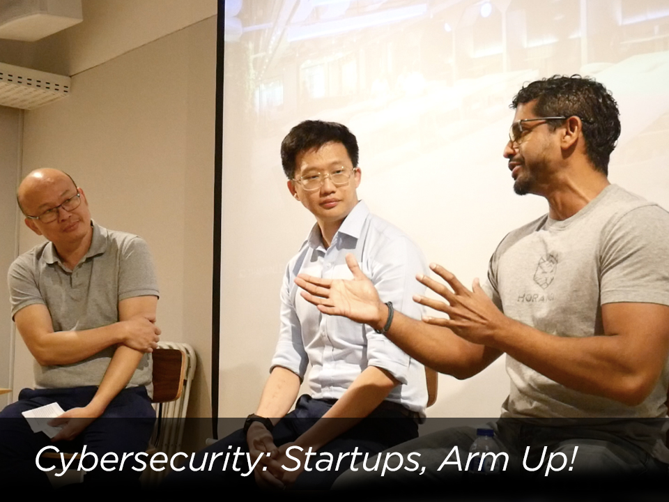 Startup Workshop: Startups, Arm Up!  in Jakarta with Quan Heng Lim, Director of Cyber Operations and Sheran Gunasekera, Principal Researcher, both from Horangi.
