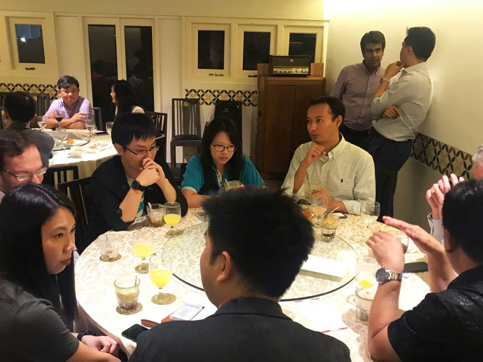 Founders' Dinner in Singapore  on May 2018 with Managing Partner Kuo-Yi Lim, Partner Reez Nordin and Principal, Michele Daoud