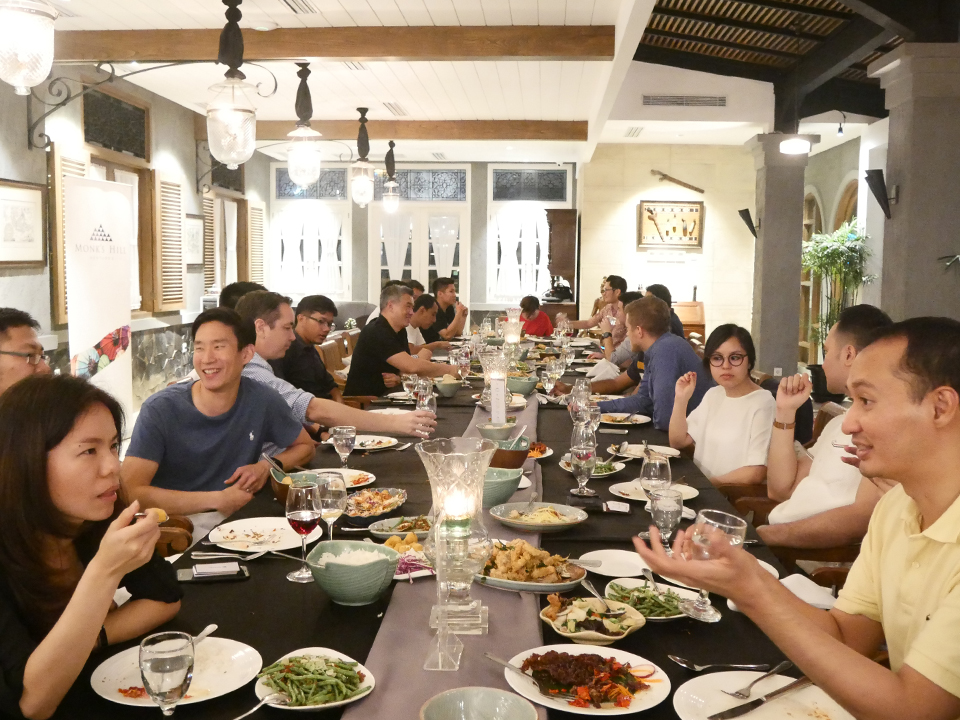 Founders' Dinner in Jakarta, Indonesia  on April 2018 with Managing Partner Peng T. Ong and Partner Reez Nordin