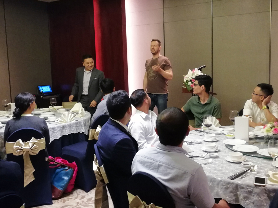 Founders' Dinner in Ho Chi Minh City, Vietnam  on March 2018 with Operating Advisor Justin Nguyen and Partner Reez Nordin