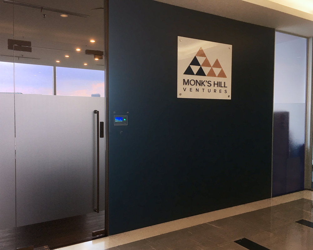 Monk's Hill Ventures office on 7th floor (across from elevator)