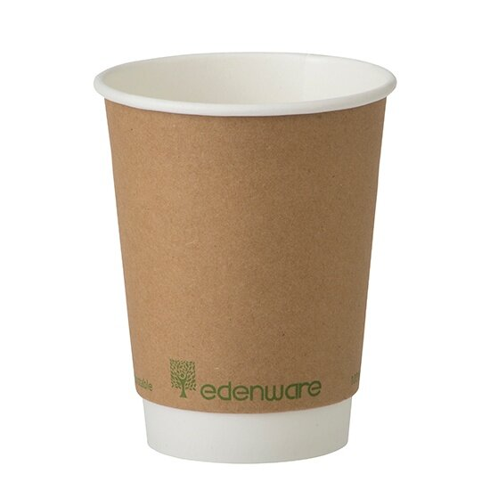 Eco Friendly PLA Paper Cups Coated 12oz Disposable Double