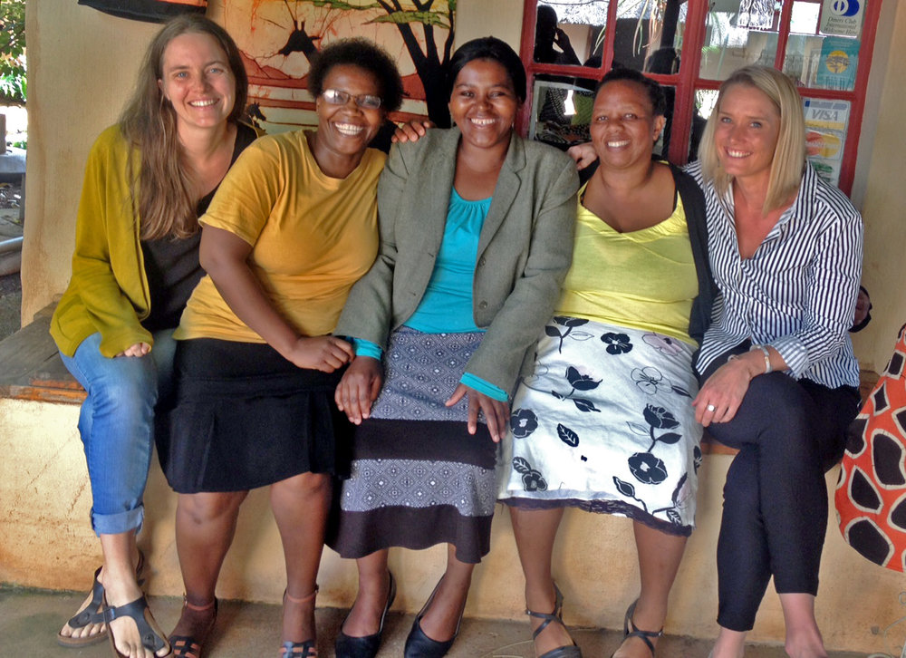 From left: Signhild, Sphiwe, Grace, Sizakele and Laura. Mantfombi is missing from the picture.