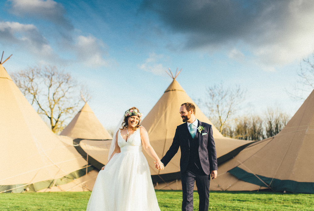 Alex and Nick - a sunny Derbyshire tipi wedding
