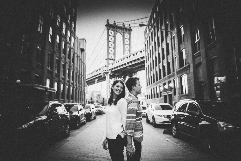 New York, Brooklyn Bridge couple shoot - Lacy and Mac