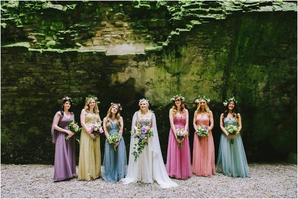 vibrant bridesmaids
