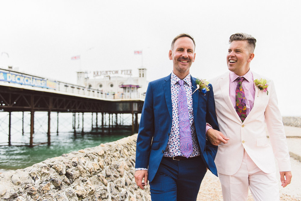 Brighton wedding photography - Niall and Dan