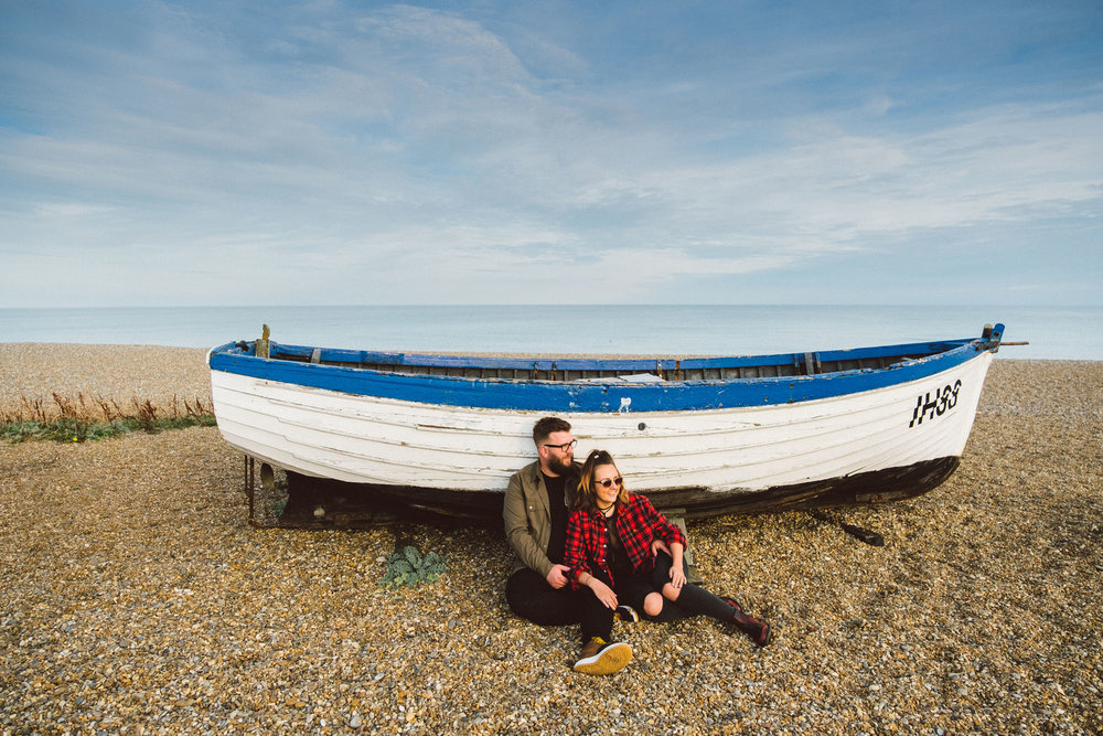 Suffolk beach pre-wedding shoot - Gemma and Chris