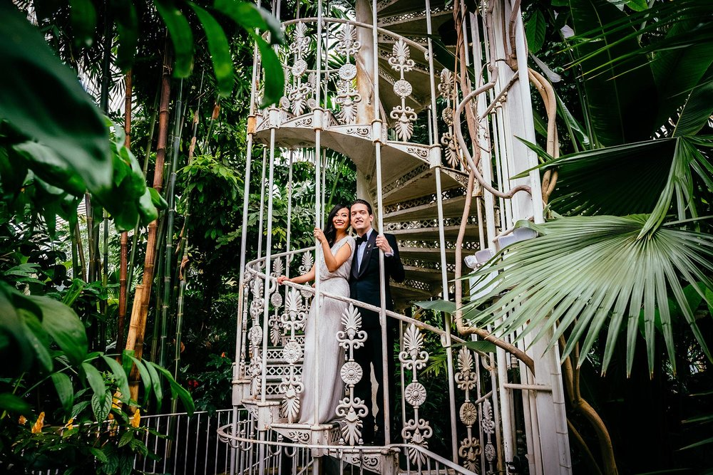 Kew Garden wedding photography - Bart and Jingyi