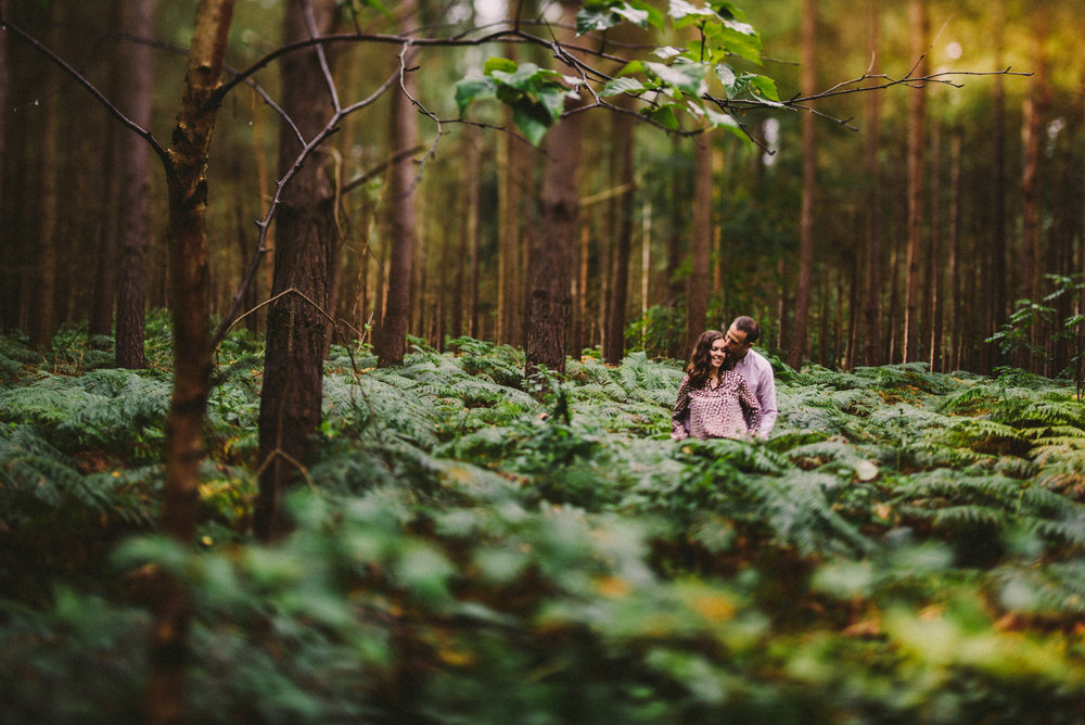 Northamptonshire woodland pre-wedding shoot - Cass and Mark