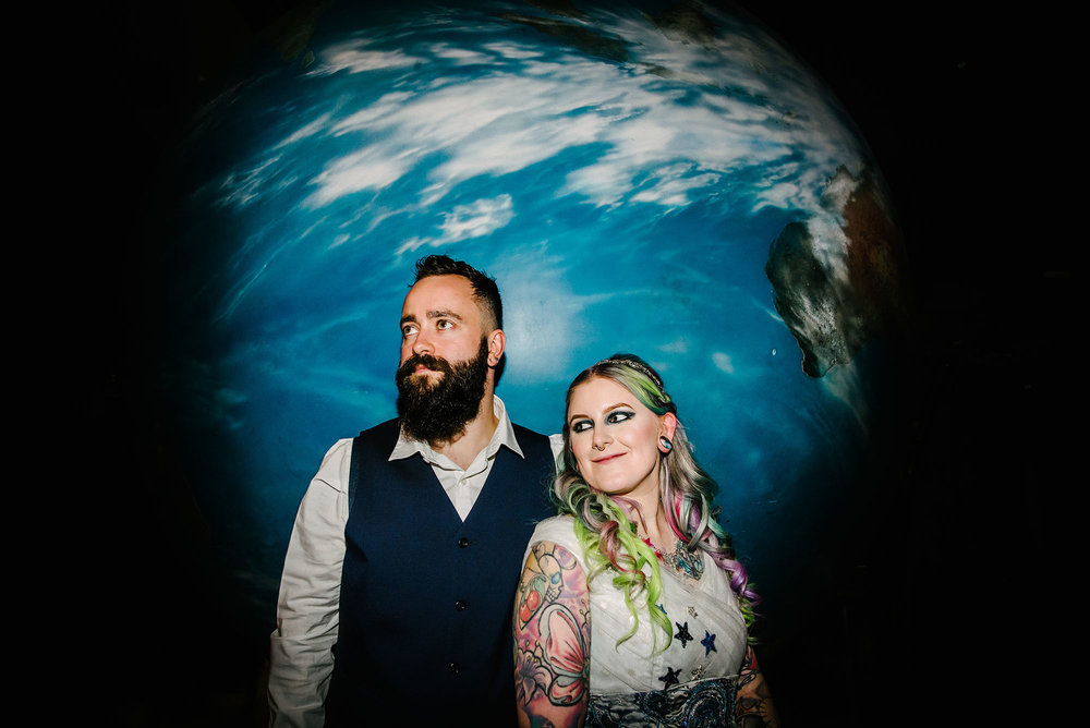 National Space Centre wedding photography - Lucy and Rich