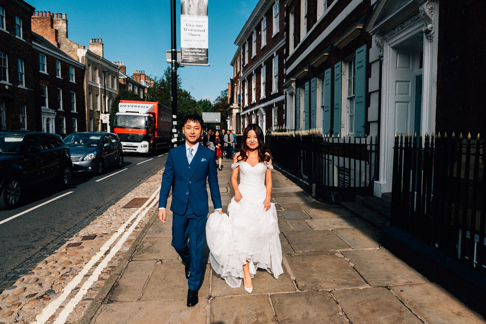 Yorkshire City wedding photography - Sherry and Will