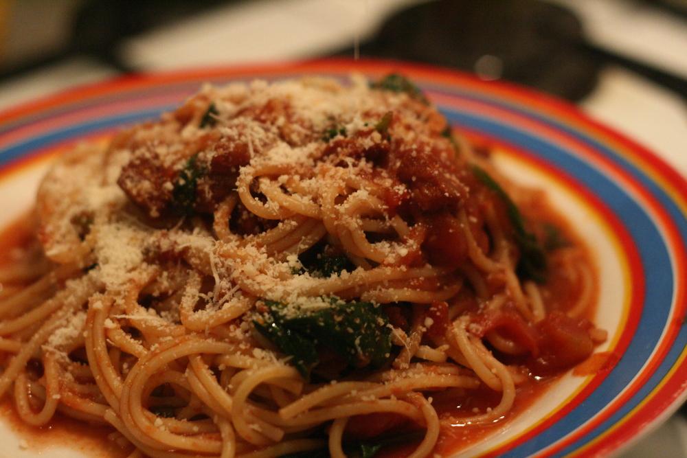 Spicy Spanish spaghetti sauce