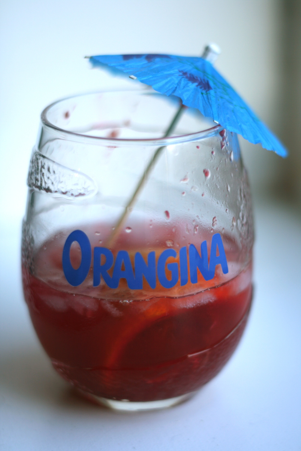 Blood orange caipirinha