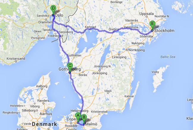 Scandinavia trip itinerary