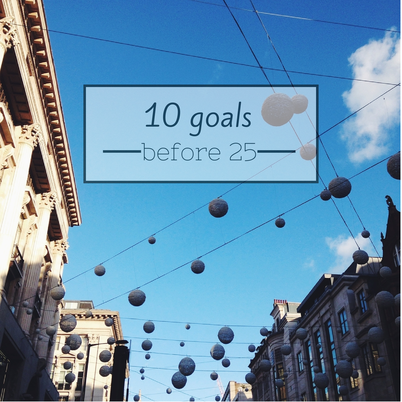 10 goals before 25