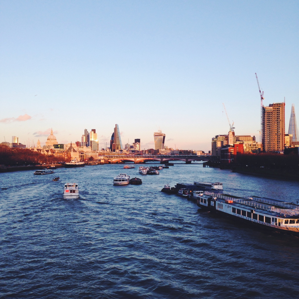 London skyline in Winter