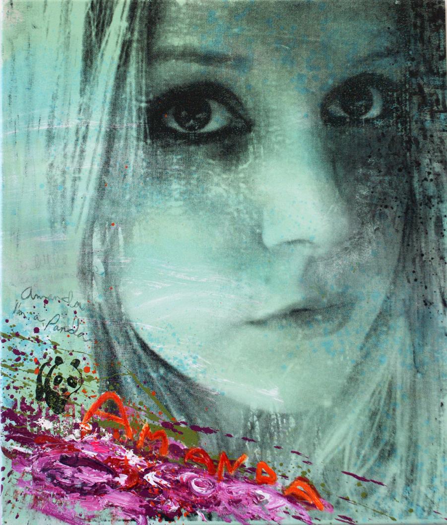"""Amanda Panda, 42""""x36"""", Original Painting"""