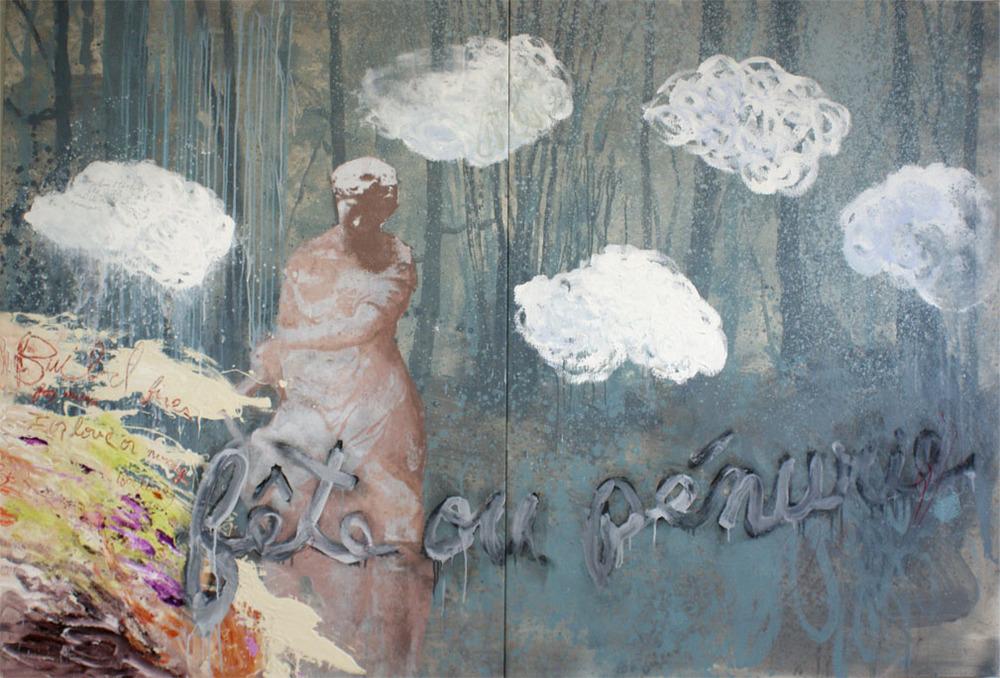 """Fete ou Penurie, 64""""x96"""", Original Painting"""
