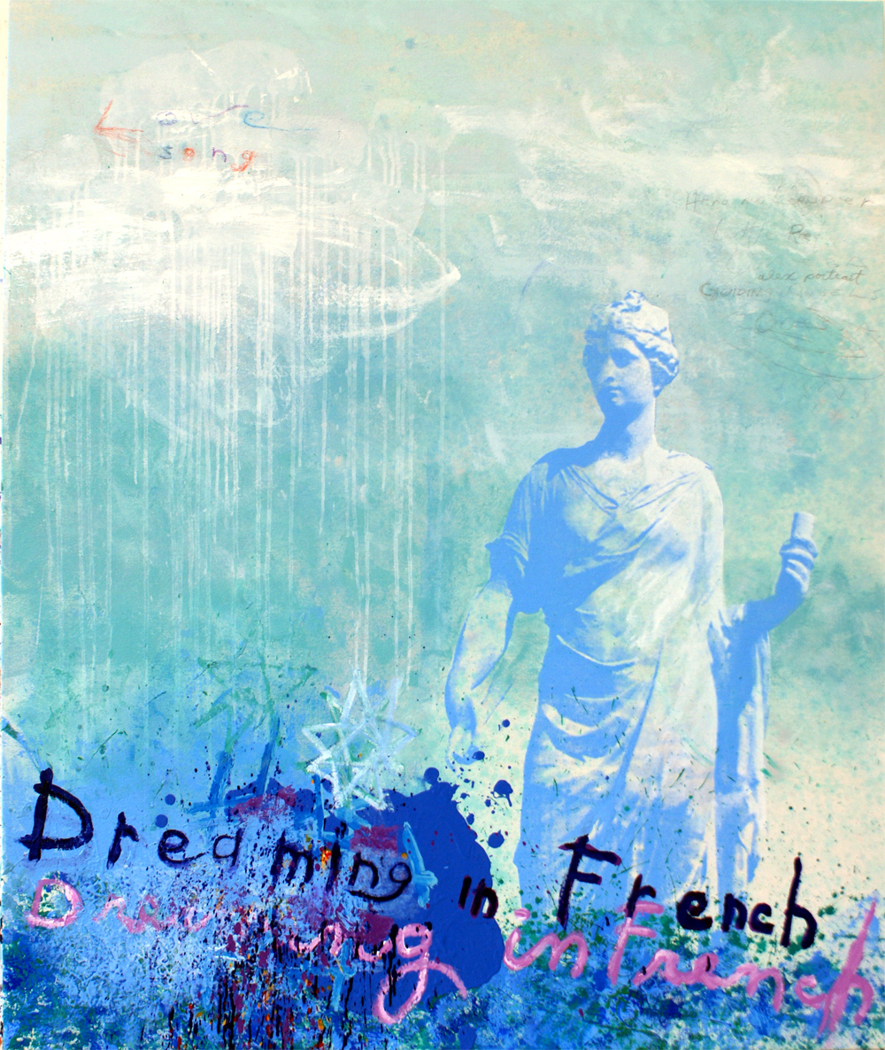 "Dreaming in French, 52""x62"", Original Painting"