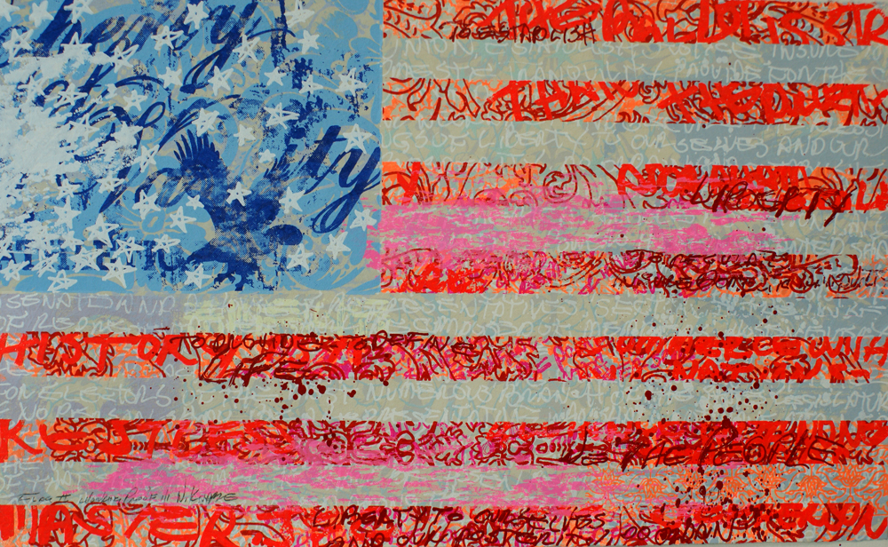 """Flag II - 23""""x37"""""""