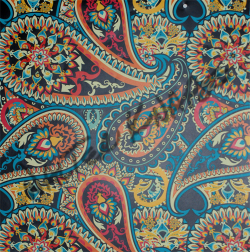 Dancing Paisley - Black