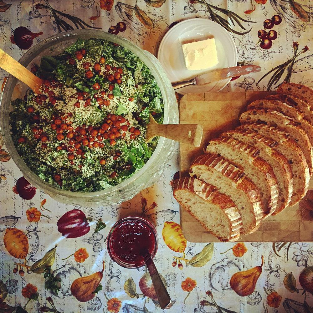 Vegan Kale Caesar Salad