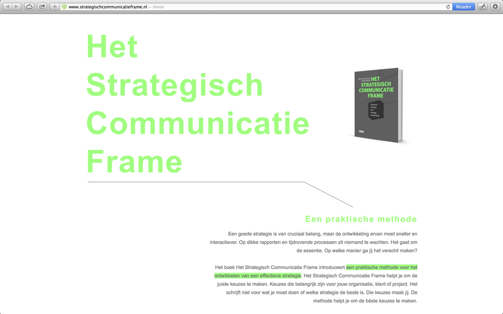 Strategisch Communicatie Frame [link]