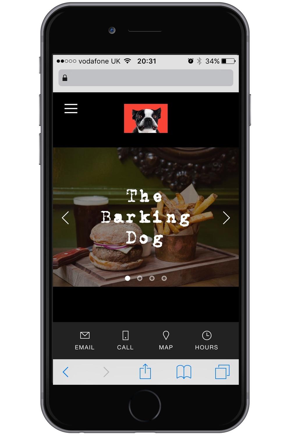 Default Mobile Information Bar