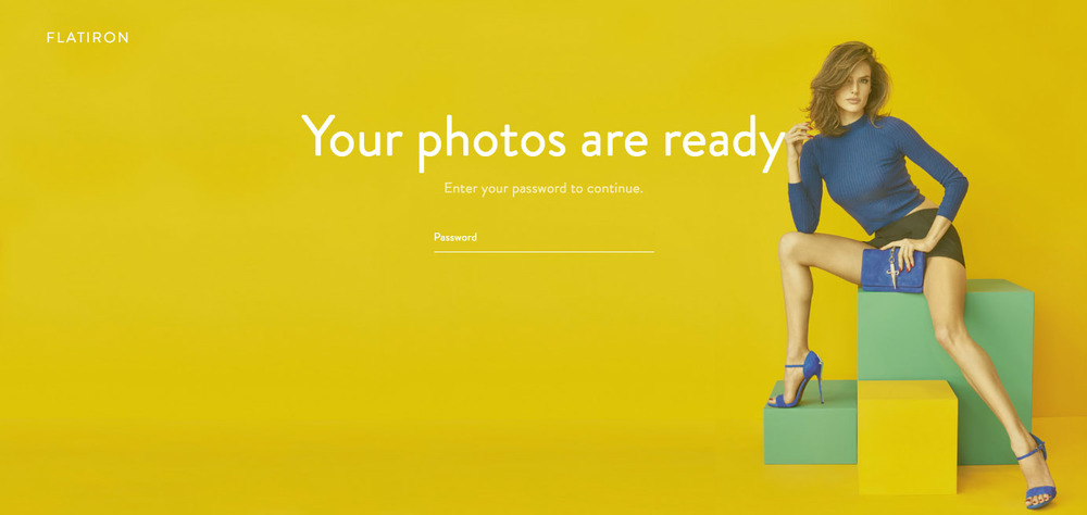 Photographer's login page