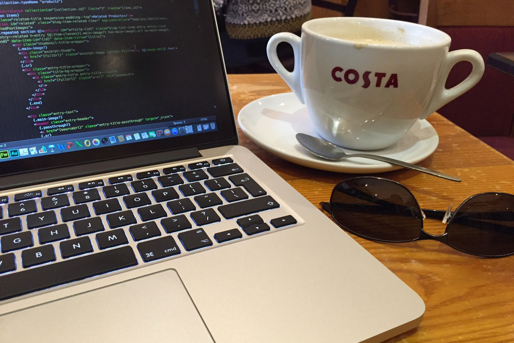My laptop and my coffee