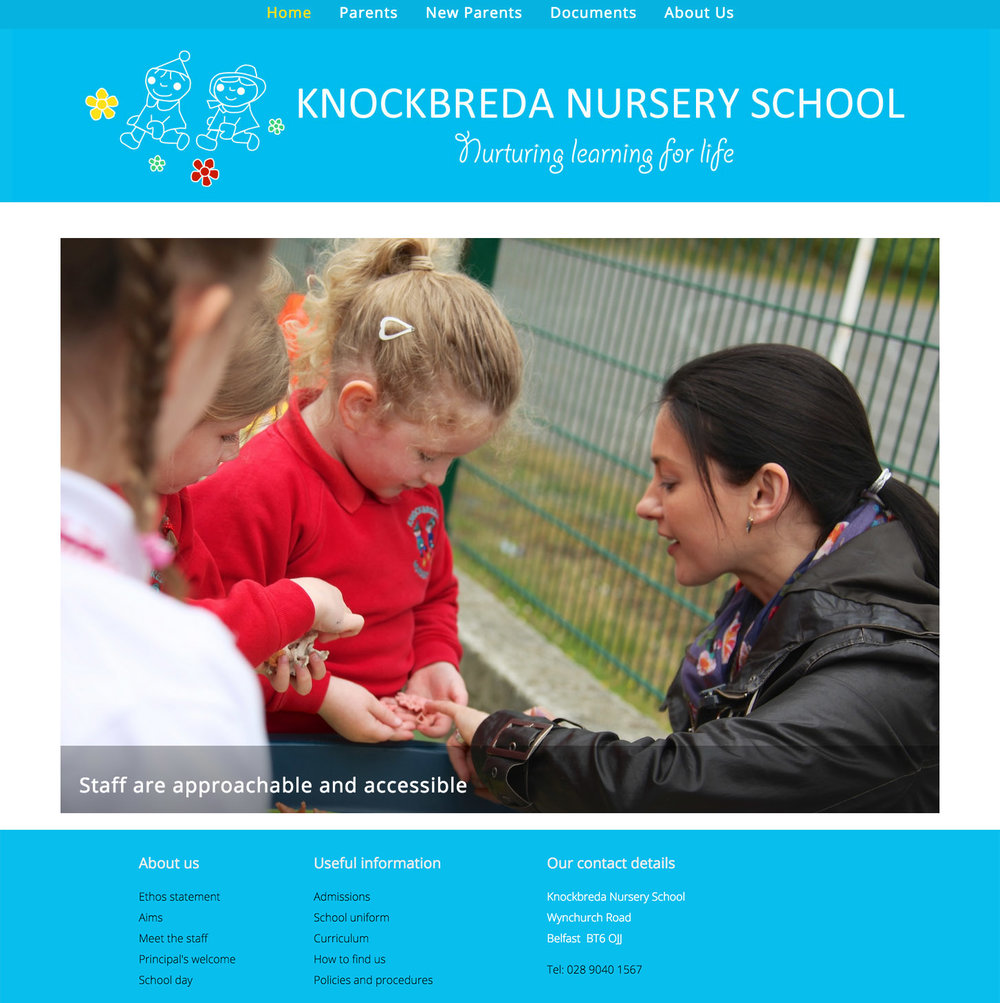 Knockbreda Nursery School New Website 2015