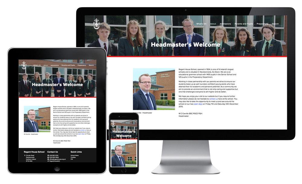 Grammar School Website on different devices