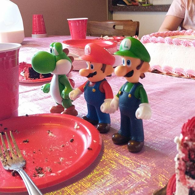 Mario was kind enough to join Vinny for his seventh birthday. He brought a couple of his friends!