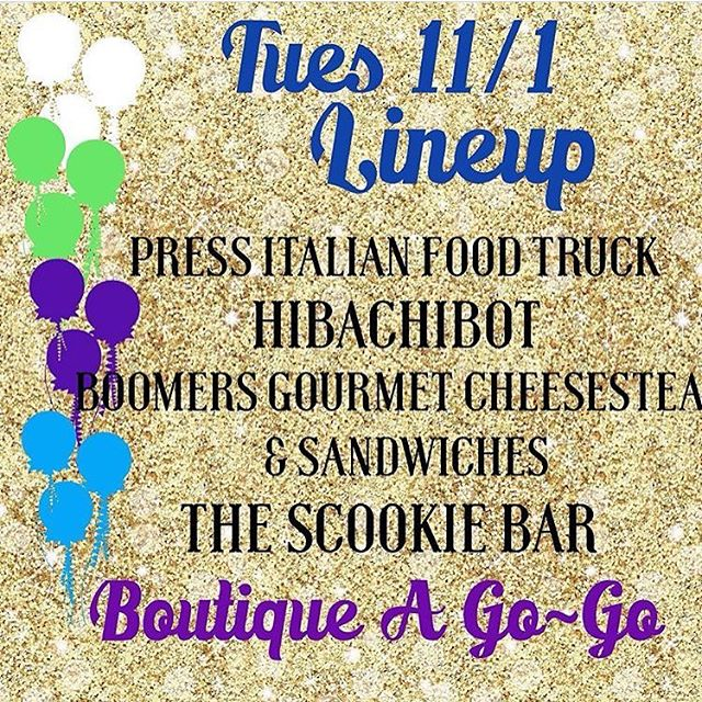 Tonight is Food & Fashion Truck Fest from 5-730pm.  NE corner of 32nd St and Cactus.  With @boutiqueagogo @hibachibotfoodtruck @thescookiebar @boomersgourmetcheesesteak  #az #food #foodtruck #local #foodie #panini #nomnomnom #gourmet