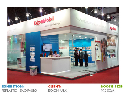 Booth for FEIPLASTIC Brazil