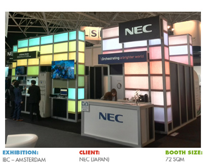 Booth for IBC Amsterdam