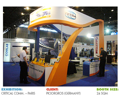 Booth for Critical Communications World Event