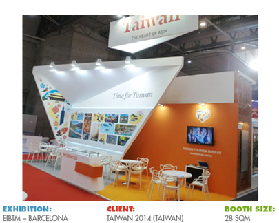 Booth for EIBTM, Barcelona (current IBTM World)