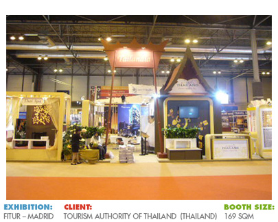 Booth for Fitur, International Tourism Fair in Spain