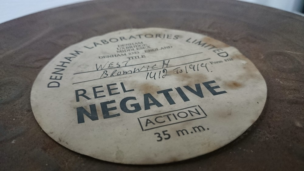 This 35mm film reel, over a century old, was digitzed and used in the final film.