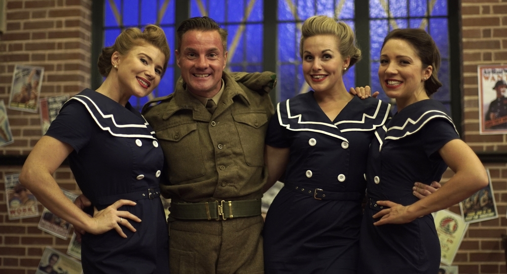 The D-Day Darlings provided us with their recording of 'Boogie Woogie Bugle Boy' for the edit.