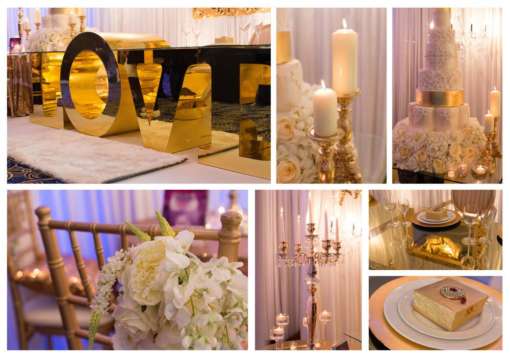Wedding décor by  Spectrum Events .