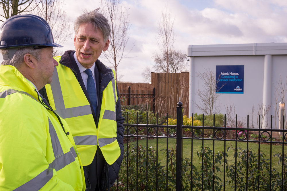 CEO Mike Gaskell (Morris Homes), Phillip Hammond, Chancellor of the Exchequer.