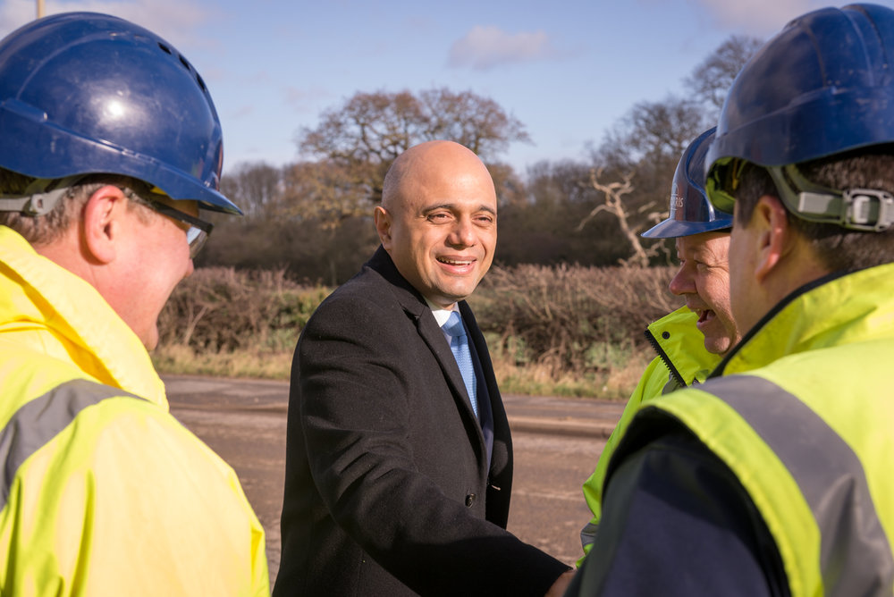 Sajid Javid, Home Secretary, Public Relations Photography Shoot.
