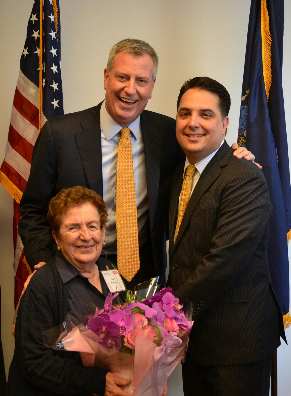 NED President John Orlando, Founder Mary Sansone and Mayor Bill di Blasio