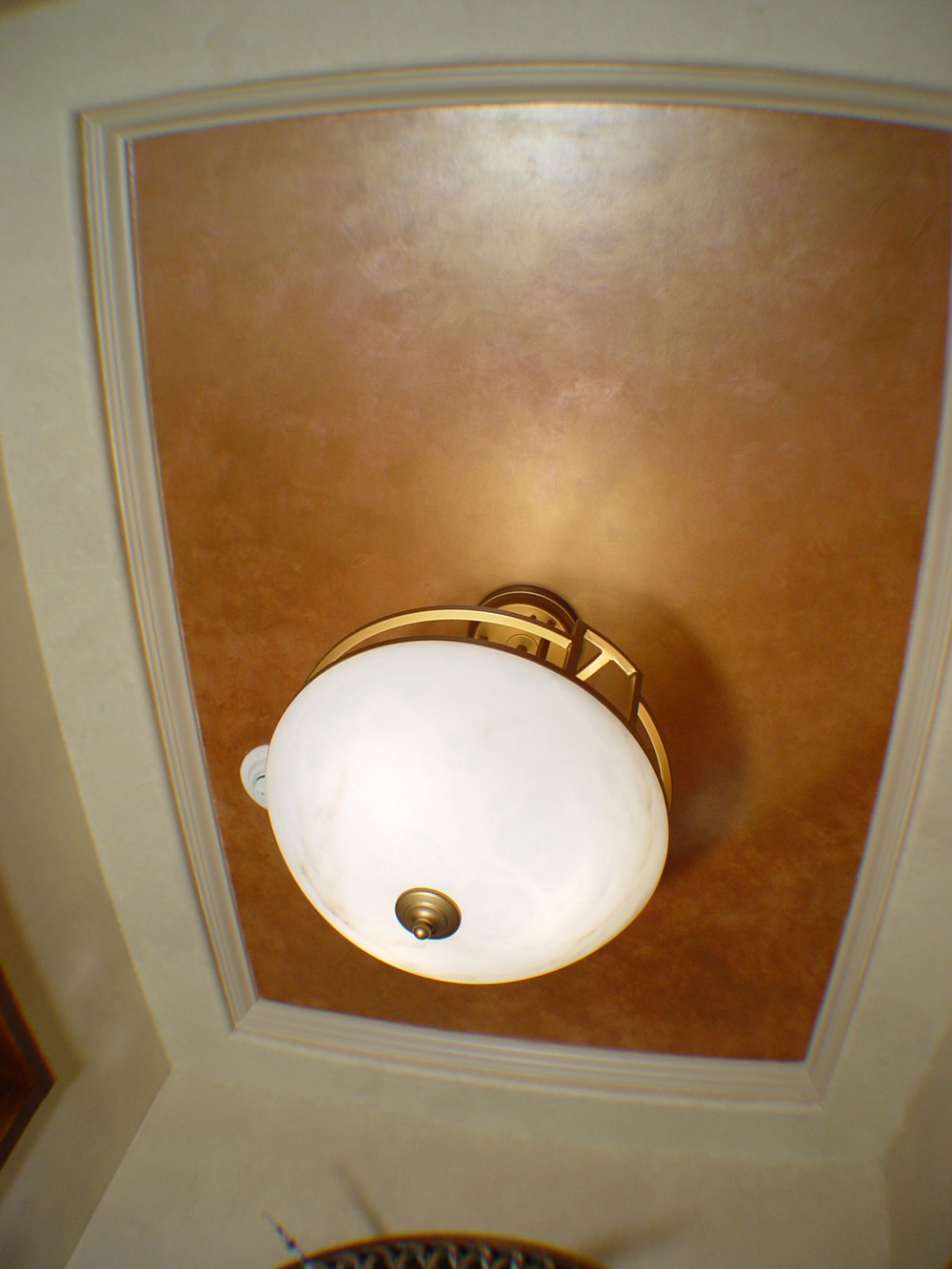 faux paint ceiling tray