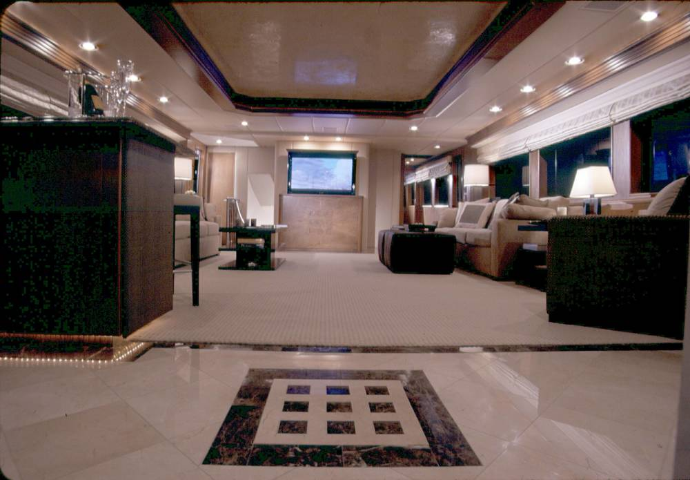 faux finish yacht for tiger woods