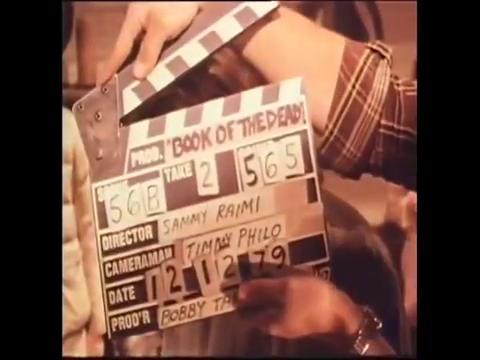 """La claqueta durante la grabación de """"Book Of the Dead"""""""